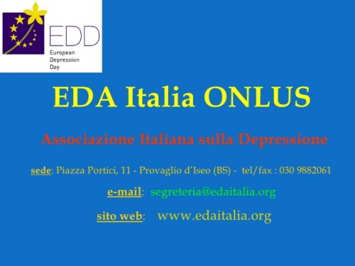 Immagine per: European Depression Association EDA